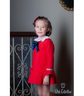 DBB Collection - Vestido rojo para niña