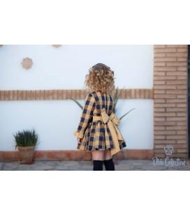 DBB Collection - Vestido cuadros cámel para niña