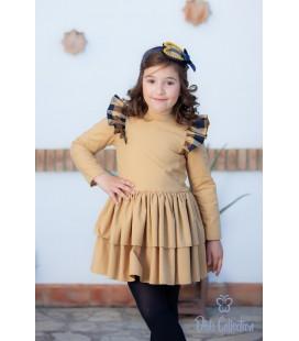 DBB Collection - Vestido cámel para niña