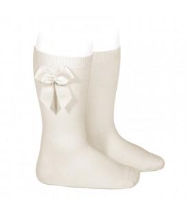 Cóndor - Calcetines altos algodón con lazo lateral - Lino