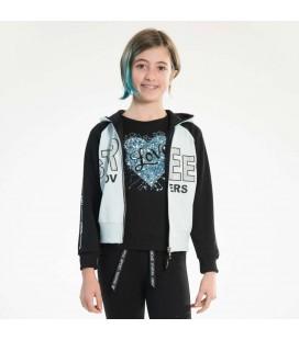 PEOPLE - Sudadera abierta azul para niña