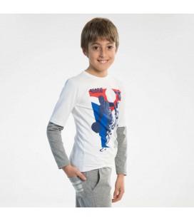 PEOPLE - Camiseta blanca para niño