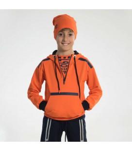 PEOPLE - Sudadera naranja para niño