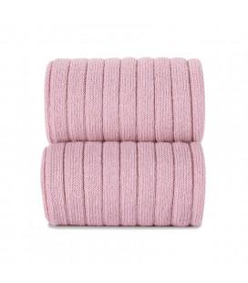 Cóndor - Calcetines altos canalé básicos - Rosa palo