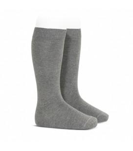 Cóndor - Calcetines altos básicos punto liso - Gris claro