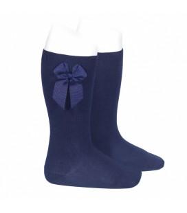 Cóndor - Calcetines altos algodón con lazo lateral - Marino