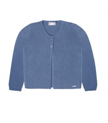 Cóndor - Chaqueta larga punto bobo - Azul francia