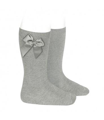 Cóndor - Calcetines altos algodón con lazo lateral - Aluminio