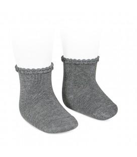 Cóndor - Calcetines cortos puño labrado - Gris claro