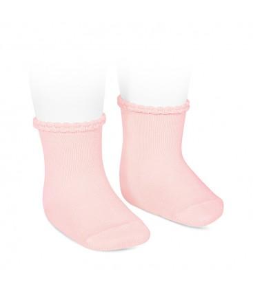 Cóndor - Calcetines cortos puño labrado - Rosa