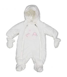 Birba - Buzo microfibra rosa para bebé