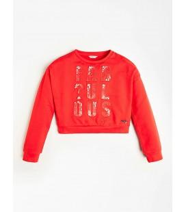 Guess - Sudadera roja para niña