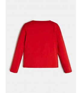 Guess - Camiseta roja para niña
