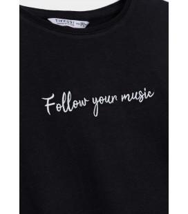 Tiffosi - Camiseta Yeva negra para niña