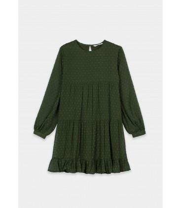 Tiffosi - Vestido Elia verde para niña