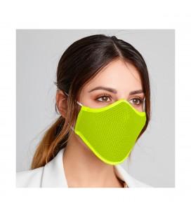 Pitillos - Mascarilla higiénica reutilizable color fluor