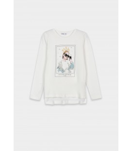 Tiffosi - Camiseta Alsiha beige para niña