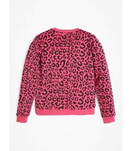 Guess - Sudadera rosa para niña