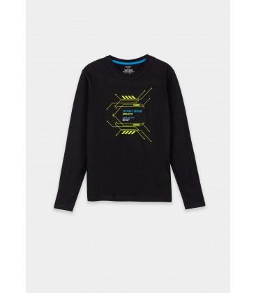 Tiffosi - Camiseta Grover negra para niño