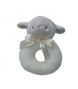 Sonajero para bebé oveja beige de Gamberritos