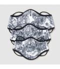 Pitillos - Mascarilla higiénica reutilizable blanco y negro