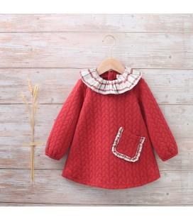 Dadati - Vestido granate para bebé