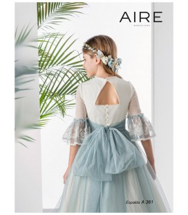 AIRE Barcelona - Vestido romántico tul topos primera comunión