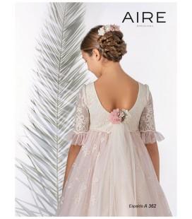 AIRE Barcelona - Vestido romántico tul bordado primera comunión
