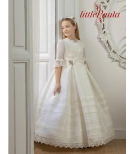 Little Paula - Vestido clásico lorzas de primera comunión