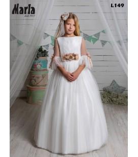 Marla - Vestido primera comunión tul beige