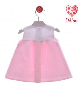 Del Sur - Vestido Bari rosa para bebé