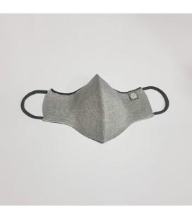 Mantuki - Mascarilla higiénica reutilizable adulto color gris claro