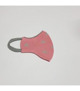 Mantuki - Mascarilla higiénica reutilizable infantil rosa