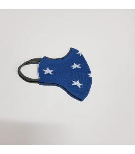Mantuki - Mascarilla higiénica reutilizable infantil azul estrellas