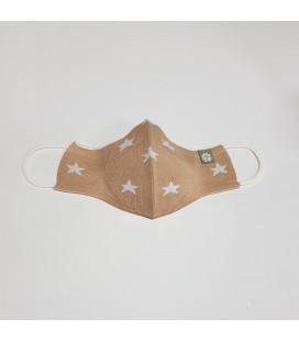 Mantuki - Mascarilla higiénica reutilizable cámel estrellas