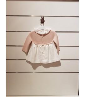 Martín Aranda - Vestido Nashira rosa para niña