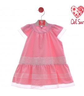Del Sur - Vestido Florencia rosa empolvado para niña