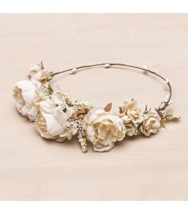 Siena - Corona media conjunto floral Dunya