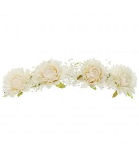 Siena - Tocado flores puntas y gypsophila Elsa