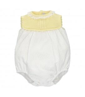 Martín Aranda - Pelele amarillo blanco para bebé