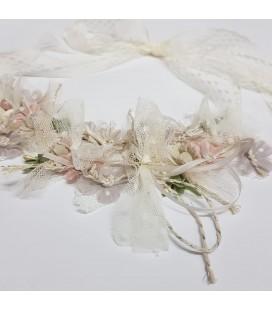 Juana Sánchez - Tira flores primera comunión marfil