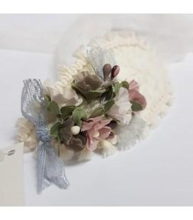 Juana Sánchez - Capota ceremonia con flores