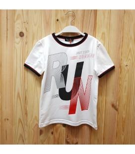 PEOPLE - Camiseta blanca y negra para niño