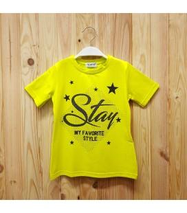 PEOPLE - Camiseta amarilla para niña con estrellas