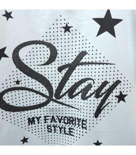 PEOPLE - Camiseta azul para niña con estrellas