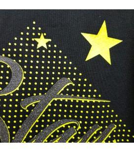 PEOPLE - Camiseta negra para niña con estrellas