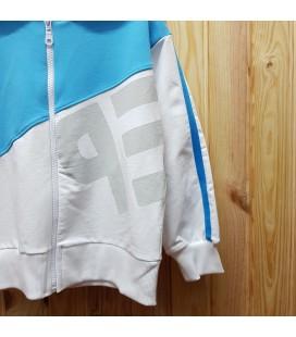 PEOPLE - Sudadera abierta azul y blanca para niña