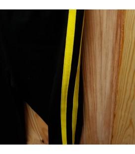 PEOPLE - Legging negro detalle amarillo para niña