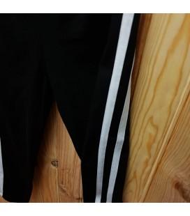 PEOPLE - Legging negro detalle blanco para niña