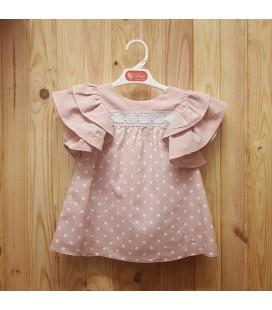 Del Sur - Vestido Génova rosa empolvado para niña